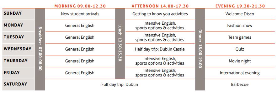 İrlanda'da Yaz okulu